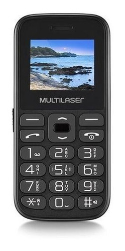 Celular Idoso Multilaser Vita 4 Dual Radio Fm Preto