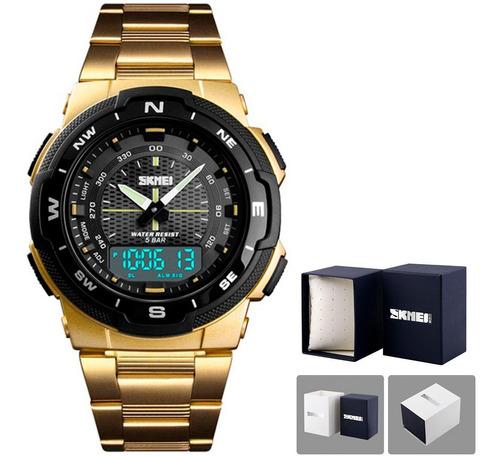 Relógio Masculino Skmei 1370 Prova D' Água Esportivo Luxo Nf
