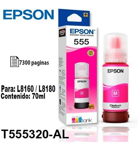 Tinta Epson T555 Magenta Fotográfica Original P/l8160/8180