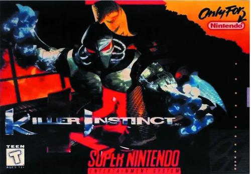 Killer Instinct Juego Super Nintendo Snes Caja Manual Vdgmrs
