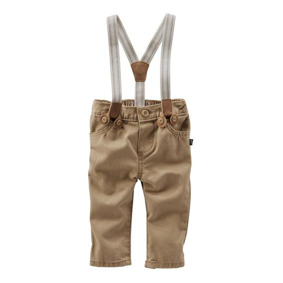 Oshkosh Pantalón De Vestir Gabardina Con Tiradores Bebe