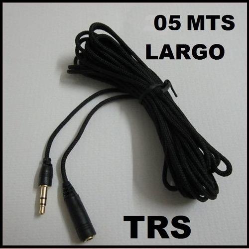 Cable Extension Trs Para Microfonos Y Audifonos De 05 Mts
