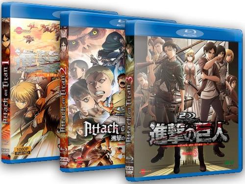 Shingeki No Kyojin (attack On Titan) 3 Temporadas - Blu-ray
