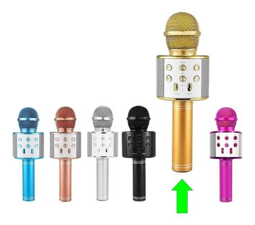 Microfone Bluetooth Tipo Repórter Sem Fio Karaokê Youtuber
