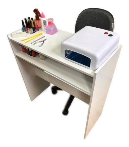 Mesa Manicure Porta Esmaltes Aparador Carrinho Auxiliar