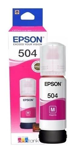 Tinta Epson  504 T504 L4150 L4160 L6191 Original  Magenta