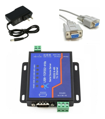 Conversor Rs232 Rs485 Para Ethernet Tcp/ip Usr-410s