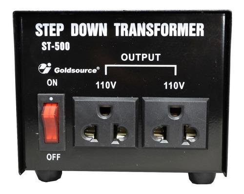 Transformador 220v - 110v 500w - 2 Tomas - Central Shop