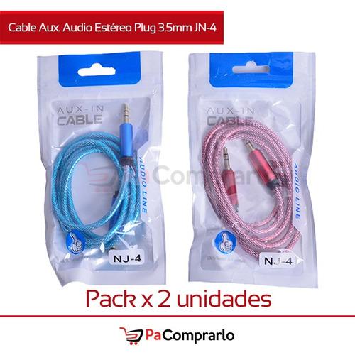 Cable Aux. Audio Estéreo Plug 3.5mm Jn-4