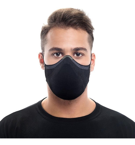 Máscara Knit Max95 Antiviral + 15 Filtros Descartáveis Tam M