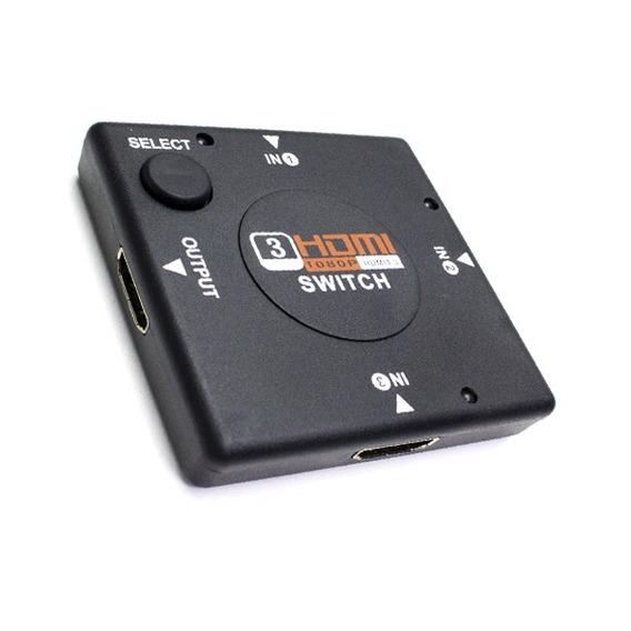 Switch Hdmi 3 Entradas Hd 3d 1080p Tv Ps3 Led Gtia Ditron