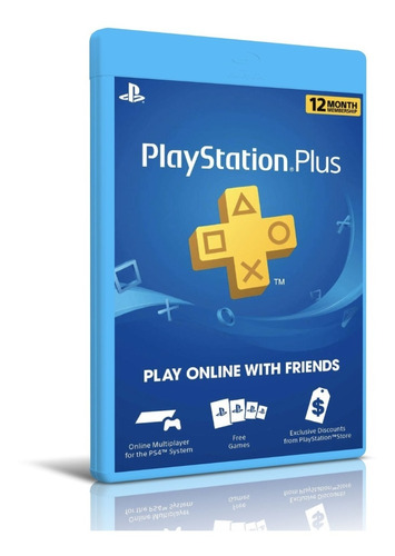 Playstation Plus 12 Meses Codigo Original Membresia Original