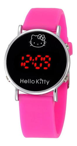 Relógio Infantil Feminino Estudante - Hello Kitty Led Barato