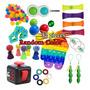 Pop It Fidget Sensorial Stress Relief Toys Kit