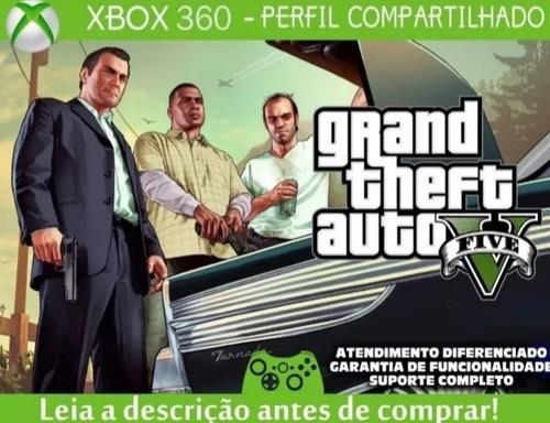 Gta V - Xbox 360! Mídia Digital E Perfil Compartilhado!
