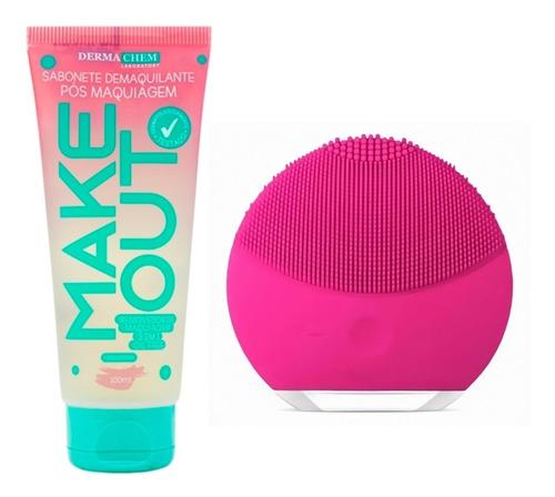 Kit Para Limpeza Facial Esponja Elétrica Forever+ Sabonete