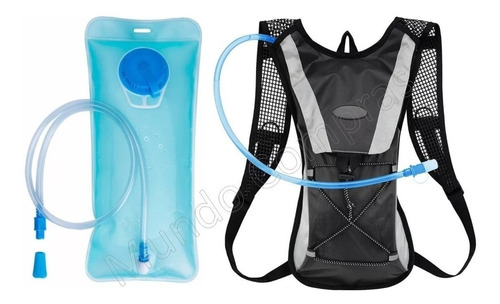 Mochila Hidratação Impermeável Bolsa D`água Bike 2 Litros