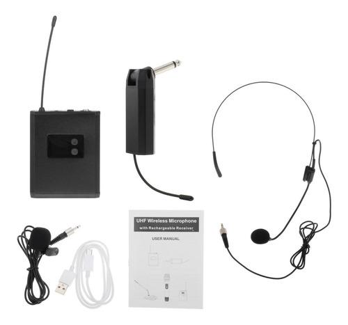 Fone De Ouvido De Sistema De Microfone Sem Fio Lavalier Mic,