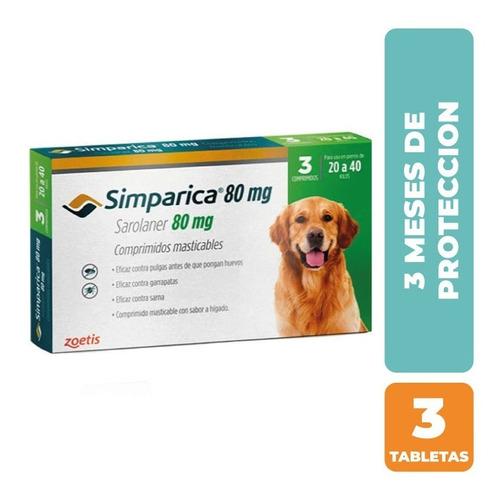 Antiparasitario Simparica 20 A 40kg (80mg) - 3 Comprimidos