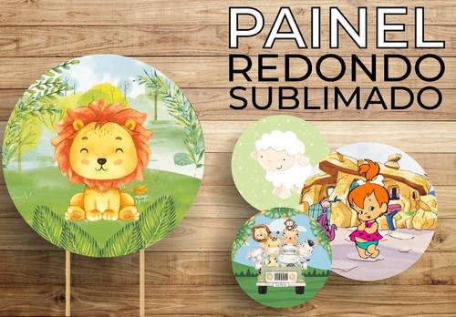 Painel Redondo  Decoração Tecido 3d Sublimado 1,50m X 1,50m
