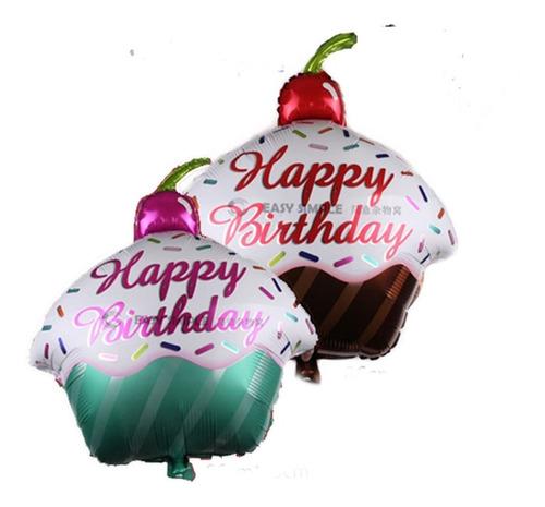 Globo Metalizado Cupcake Happy Birthday