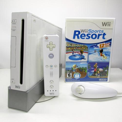 Nintendo Wii Completo Com Jogo + Controles Originais