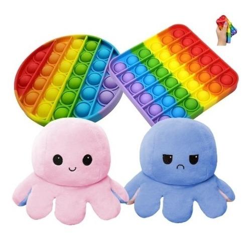 Fidget Toy Pop It Antiestresse Apertar + Polvo Muda De Humor