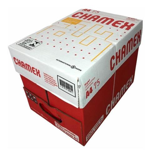 Caixa De Papel Sulfite 75g Chamex A4 - C/2500 Folhas