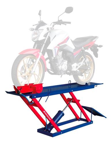 Elevador P/ Moto Pneumático Metalcava 250kg Antiderrapante
