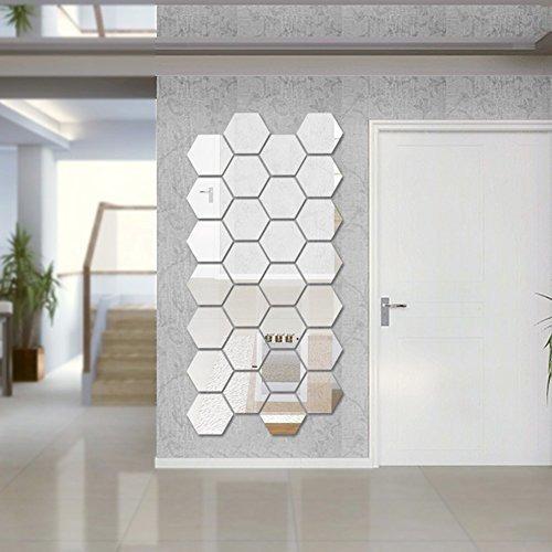 Hexagonales De Pared Espejo Conjuntos De Etiqueta Engom...