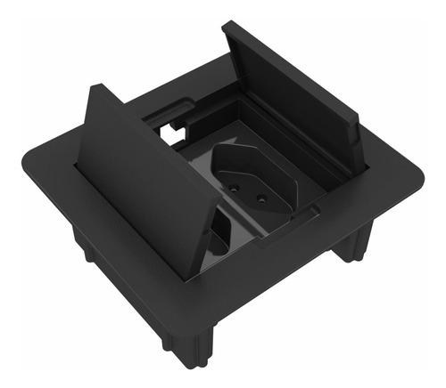 Caixa De Tomada Embutir Mesa Com 2 Tomadas Flex - Cx02q