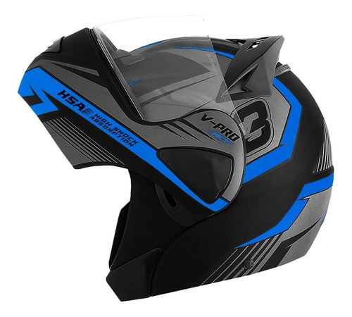 Capacete Moto Escamoteável Pro Tork V pro Jet 3 Robocop Top