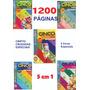 5 Livros De Passatempos Coquetel Cinco Em Um Mix 1200 Pg