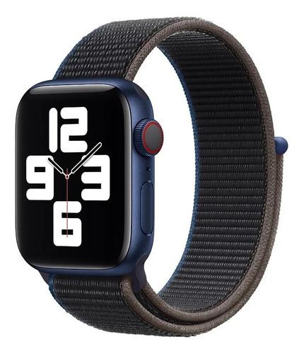 Pulseira Nylon Loop Velcro Compatível Com Apple Watch  E Iwo