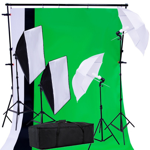 Kit Fotografico Estudio Profesional Fotografia Set Softbox