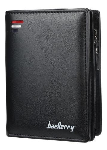 Carteira Masculina Vertical Com Zíper + Porta Moedas 3 Cores