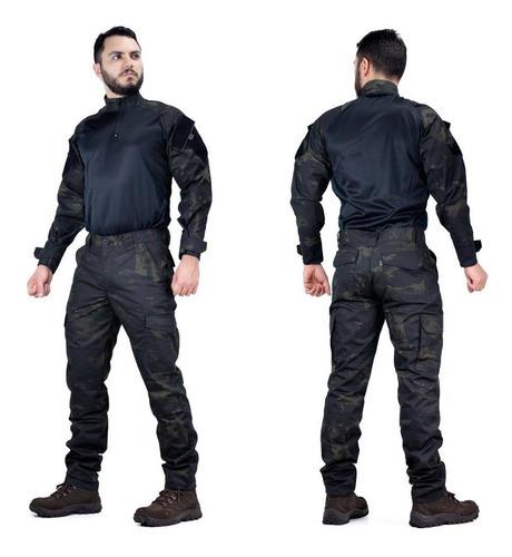 Farda Militar Multicam Black Tatica Calça + Combart Shirt