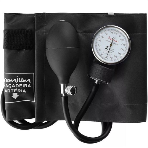 Medidor De Pressão Arterial Manual Adulto Premium Preto