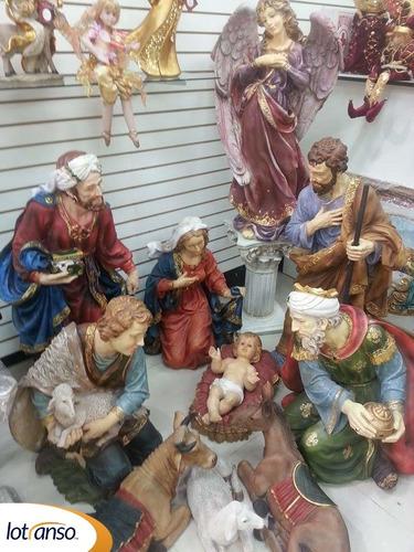 Nacimiento Navideño De 11 Piezas Grande De Fibra De Vidrio