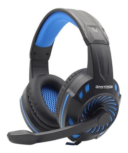 Auriculares Gamer Amitosai Mts-floss Azul