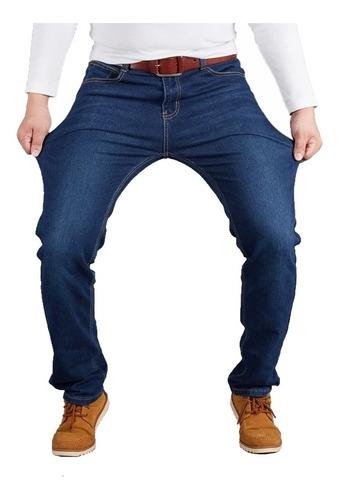 Calça Jeans Elastano Masculina Básica Tradicional Dia A Dia