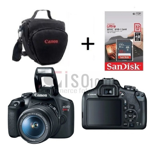 Câmera Canon T7 18 55 Is 2 C/ Nf e sandisk32g Garant Canon