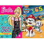 Kit 2 Livros 365 Atividades Barbie Patrulha Canina