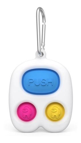 Pop-it Fidget Toy Chaveiro Empurre Pop Bolha Anti-stress