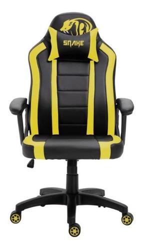 Cadeira Gamer Viper Snake Gaming Reclinável 0440 - Amarela