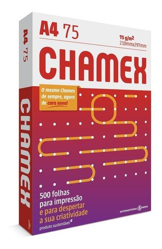 Papel A4 Sulfite Chamex Office 210x297 75g Resma 500 Folhas