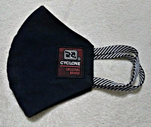 Máscara Cyclone Original Brand Reutilizável Tecid.duplo Pret