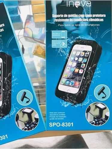 Suporte P/ Celular Em Moto Com Proteção Contra Chuva.