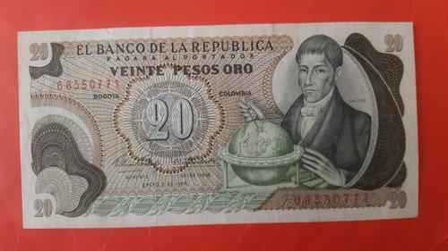 Veinte Pesos De 1969.
