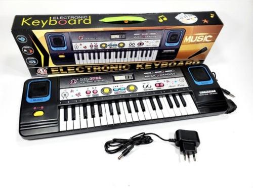Teclado Piano Com Microfone Criança  A Pilha E Força